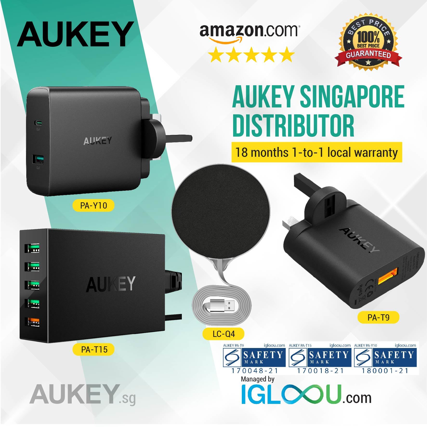 Qoo10 Aukey Chargers Mobile Accessories Pa T9 Turbo Charger With Quick Charge 30 Fit To Viewer