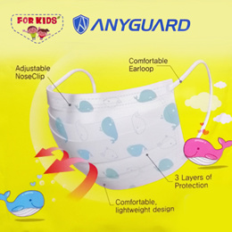 READY STOCKS - Anyguard Kids Mask / Adult Face Mask BFE 98.9% Surgical Mask Korean Brand (18 /36pcs)