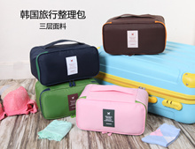High Quality 3layer Waterproof Foldable Portable Travel Organizers Bag (Size S)