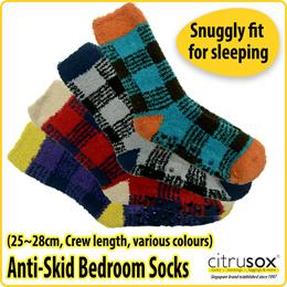[Citrusox] Anti-Skid Bedroom Sleeping Socks (25~28cm)