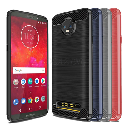 half off 6a648 349d4 HOLAZING Glossy Spigen Rugged Soft Armor Case for MOTO Z3 Play 6.01