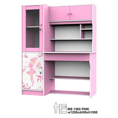 Uni Furnituresuper Meja Belajar Anak Karakter Mb 1560 Pink