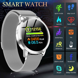 CF18 Smart Watch OLED Color Screen Smartwatch men women Fitness Tracker Heart Rate smart band