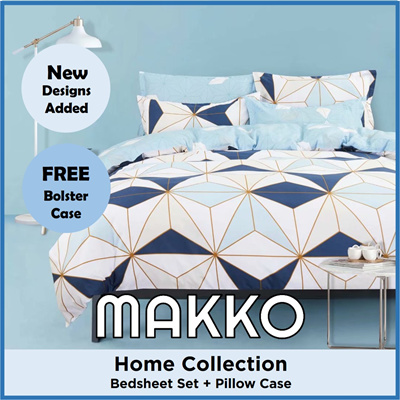 [MAKKO] 2021 New Designs ☆ Fitted Bedsheet Set with Pillow and Free Bo... :  Household & Bedd... - Qoo10