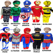 Kids Superhero Costume - Spiderman / Hulk / Transformer Red / Bumblebee / Thor / Ultraman / Captain America / Ironman / Batman / Superman~~Suitable for Kids from 3-8 years old.