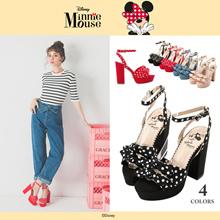 Gracegift-Disney Minnie Polka Dot High Heel Pumps/Women/Ladies/Girls Shoes/Taiwan Fashion