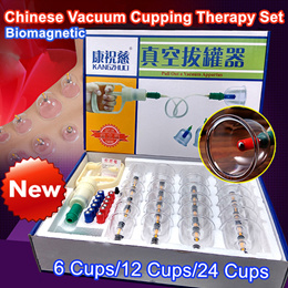 ★Cupping Therapy Set/Vacuum Cupping/6 pcs 12 pcs 24pcs/Biomagnetic Chinese Cupping Therapy Cup