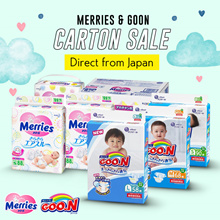 ❤️Merries N Goon Giant Pack ❤️diaper carton sale ❤️Tape n Pants❤️AVAILABLE IN ALL SIZE❤️