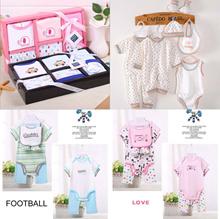 ★NEWBORN BABY SHOWER CLOTHING GIFT SET ★CUTE ROMPERS MITTEN BOOTIES NAPKIN HANDKERCHIEF BOY GIRL