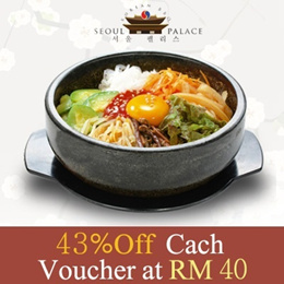 5 Years Anniversary! 43% OFF RM70 Seoul Palace Korean BBQ Cash Voucher. Only RM40 instead of RM70 at