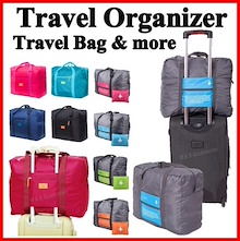 Travel Bag Luggage Organizer ★ Travel Essentials Accessories ★ Cosmetics Pouch ★ Toiletries Handbag
