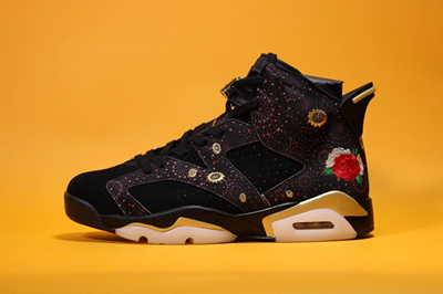 size 40 e05f9 03c07 Air Jordan 6 Chinese New Year AJ6 Chinese Year Peony Fireworks Embroidery  AA249