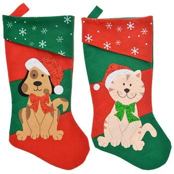 Christmas Stockings For Dogs.2 Pack Christmas House Pet Stockings Dog And Cat