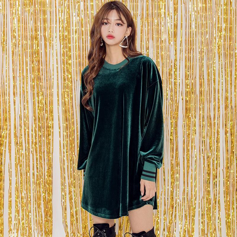 【送料無料】★韓國ファッション★eleven velvet OPS♥11個のベルベットのついたOPS