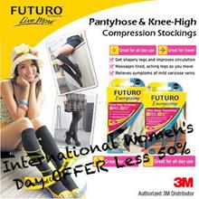 3M FUTURO™ Compression Hosiery/Black Stocking/Pantyhose/Knee High  Socks /DVT/Pregnancy/Edema