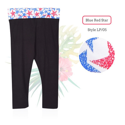 Yoga 7/8 Pants_Blue Red Star