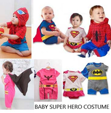 Cute Baby Boy Girl kids Super Hero Outfit Cosplay Costume Rompers halloween
