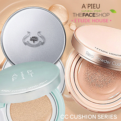 [Etude House / The Face Shop / Apieu] CC Cushion Series and Oil Control Pact Deals for only Rp150.000 instead of Rp150.000