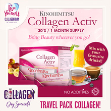 BEST SELLER Kinohimitsu Collagen Activ Powder 30s (1 MONTH SUPPLY) TRAVEL FRIENDLY Mix with Anything