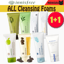 1+1 [Innisfree] Cleansing Foam Line /Jeju Volcanic / Bija / Olive real / Sea salt / Green tea /Apple