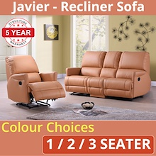 RECLINER SOFA - JAVIER * Recliner Armchair * Recliner 2-Seater Sofa * Recliner 3-Seater Sofa