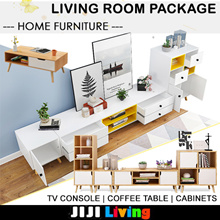 LIVING Room Package! TV Console/Coffee Table/Side Cabinet and Desk ★Furniture ★Storage ★Organizer