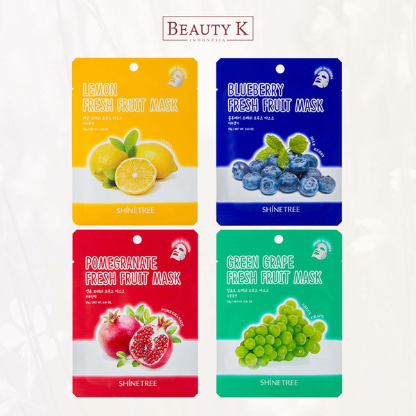 [ GET 5Pcs ] BeautyK Shinetree Fresh Fruit Mask Sheet