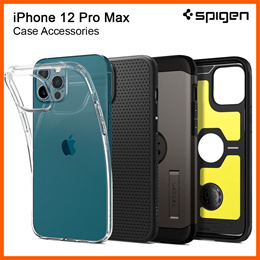 Spigen iPhone 12 Pro Max Case (6.7-inch) iPhone 12 Pro Max Casing Screen Protector Tempered Glass