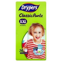 Drypers Classic Pantz Disposable Diaper Pants XXL 15-25kg 36 Pieces  [Halal Certification]