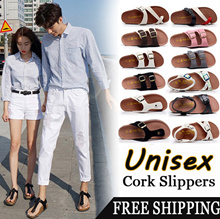 【BUY 2 FREE SHIPPING】*LOWEST PRICE*2018 Unisex Casual Beach Sandals/Leather Bottom Cork Slippers