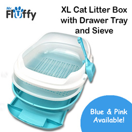 XL Cat Litter Box with Drawer Tray and Sieve / Cat / Pet / Scoop