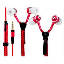Zipper Earphones Stainless with Superior Bass   Headset Zip Ritsleting Megabass   Headset Sleting