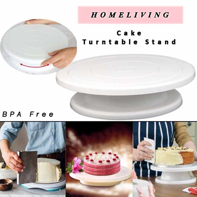 1pc 11 Rotating Revolving Plate Decorating Cake Turntable Kitchen Display Stand Cake Swivel Plate Decor Stand Plate For White High Safety Home & Garden Turntables