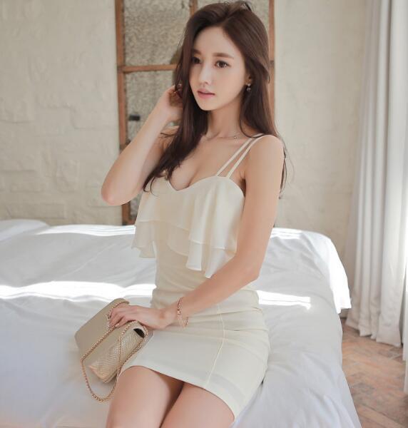 [55555SHOP]韓国ファッション♥OL、正式な場合、礼装ドレス♥セクシーなワンピース、一字肩♥二点セット