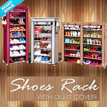 12 GRID SHOES RACK With Cover / Lemari Portabel / Rak Sepatu Kain /