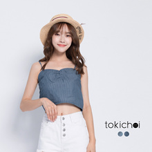 TOKICHOI - Nautical Striped Bustier Top-170908