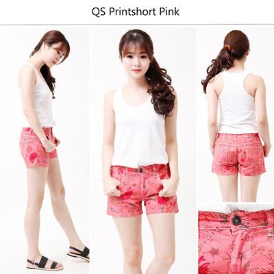 QS Printshort Peach