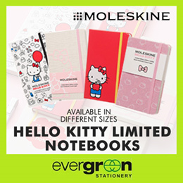 MOLESKINE HELLO KITTY CONTEMPORARY LIMITED ED. 2016 NOTEBOOK RULED LARGE HARD COVER/PKT - HARD COVER