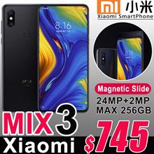 2018 Newest Xiaomi Mix3 6.39inch Samsung AMOLED Screen Front 24MP Sony Camera Max 10GB RAM Mi Mix 3