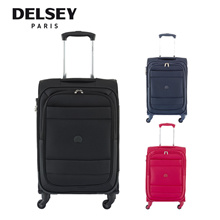 (Group) Delsey Paris Travel Luggage Indiscrete 4 Wheel Trolley Soft Case (Red/Blue/Black/Night Blue)
