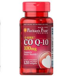 Puritan s Pride QSORB Co Q10 100 mg 120 Softgels Item 015594