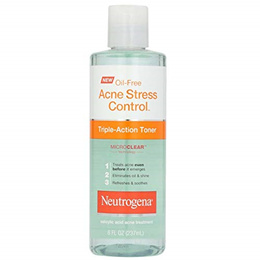 Neutrogena Oil-Free Acne-Fighting Stress Control Triple-Action Facial Toner, Soothing and Refresh...
