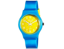 Willis for Mini Fashionable Student&#39 s Kid&#39 s Candy Color Analog Quartz Wrist Watch (Blue)