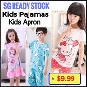 5725c0e88 Premium 【SG READY STOCK】Korean Kids PAJAMAS☆Sleepwear☆Kids Apron☆Hello Kitty ☆Pokemon☆girl/boy/Children