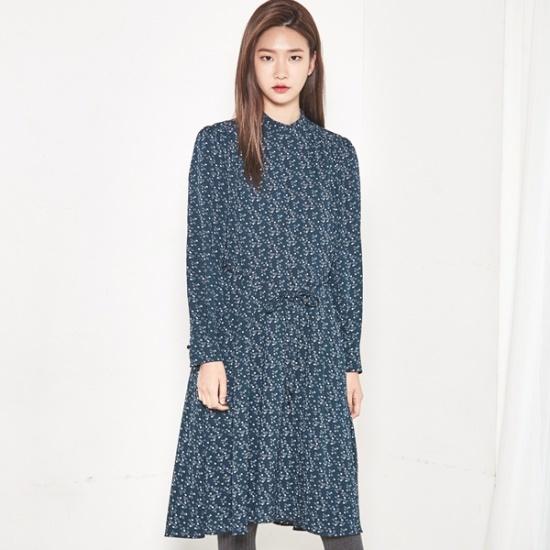 ナインNAINレトロ・プリンティングワンピースSOP3447 面ワンピース/ 韓国ファッション