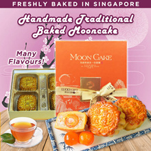 Hand Made-Traditional Baked Mooncakes Promo! FREE SHIPPING! Available in different flavours!