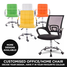 Fr. 35.90! SWIVEL OFFICE CHAIR - MESH STRIPE CUSTOMISED PU CHAIR - 3 DIFFERENT BASE AVAILABLE