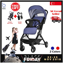 👶[BLACK FRIDAY SALE]Baby Stroller|Portable|Fold-able|Cabin Size|Diaper Bag|Rain Cover|Stroller Hook