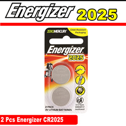 Energizer CR2025 Lithium Coin Battery 2 Piece Pack