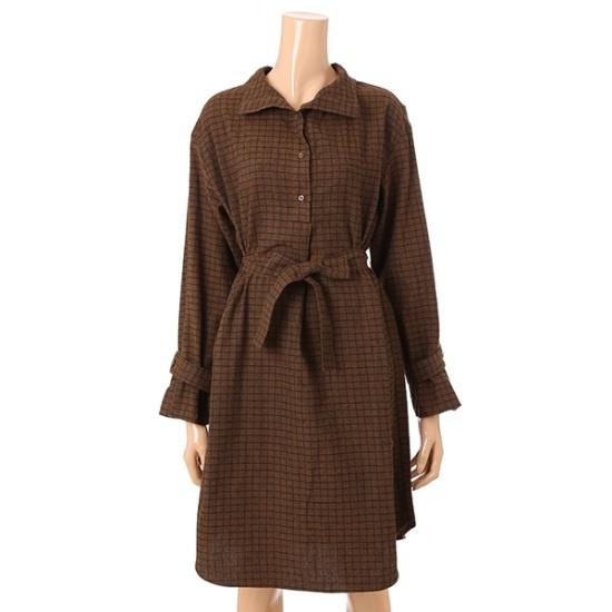 ボニーのアレックス・ベルトカラワンピースBDOA503A 面ワンピース/ 韓国ファッション